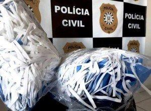 Duzentas máscaras cirúrgicas foram doadas à polícia